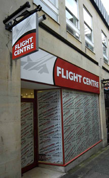 Flight Centre signs