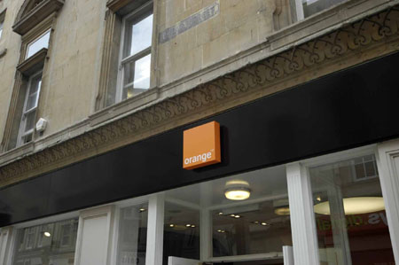 Orange shopfront