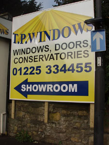 TP Windows sign