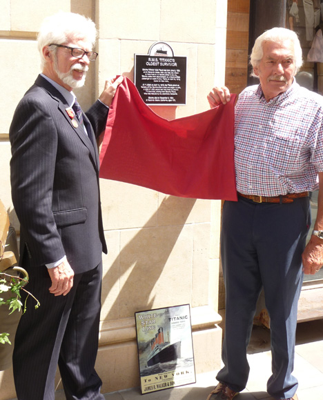 Unveiled Plaque